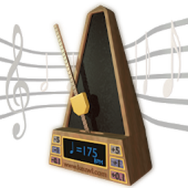 Metronome to practice guitar lesson material with correct timing.