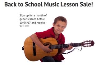 Guitar Lessons Promotion for Providence Guitar Academy